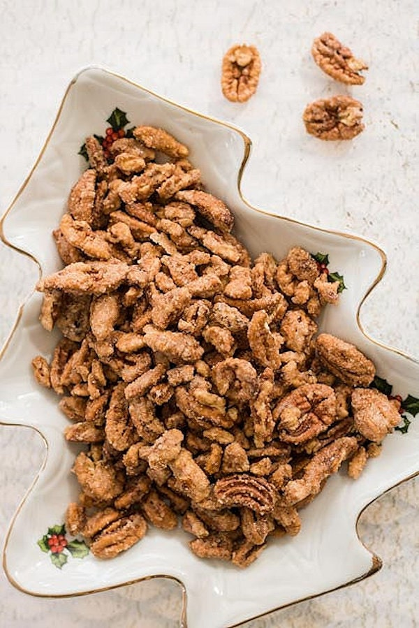 An easy sweet classic candied pecan recipe made with a few ingredients. Perfect for gift giving and treat for the holidays.