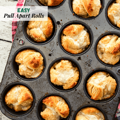 Super easy rolls to make for any addition to a meal. Buttery and cheesy goodness and what a great time saver.